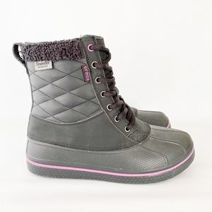 Crocs Allcast Duck Boots Waterproof Faux Fur 10W
